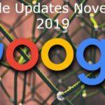 Google Updates November 2019