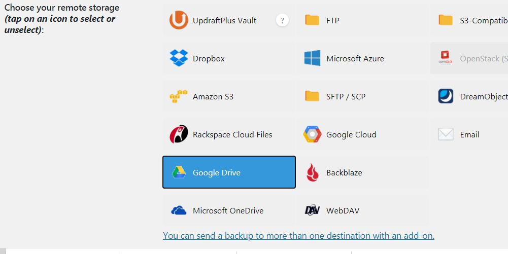 Select Google Drive